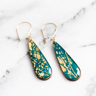 JASMINE GOLD-RUSH TEARDROP EARRINGS