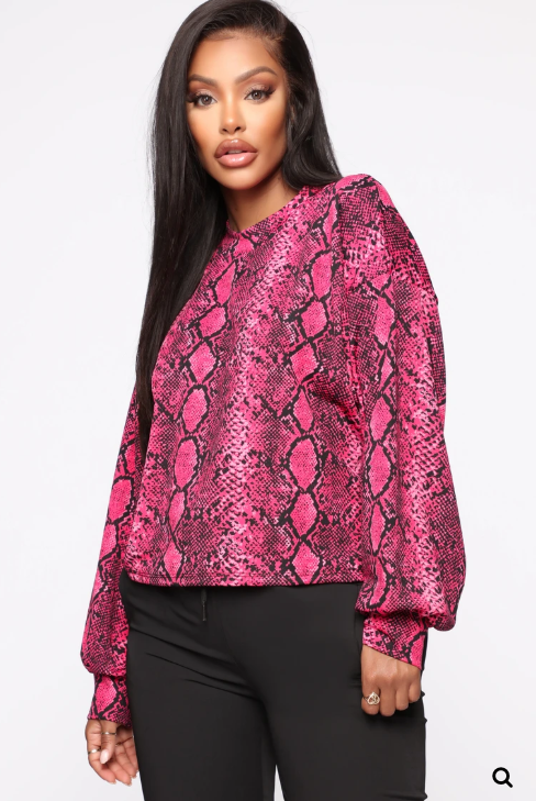 ALONSO SNAKE PRINT TOP