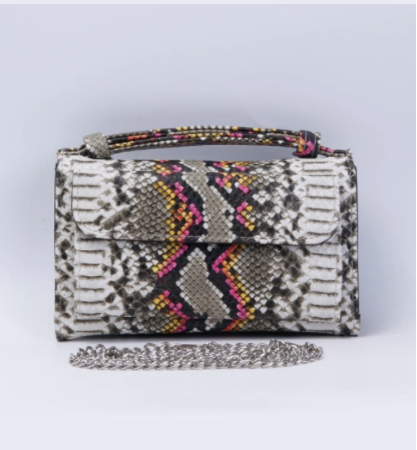 EMILIA SNAKE EMBOSSED MINI CROSSBODY CLUTCH