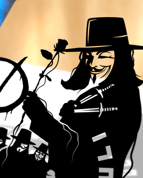 UNFRAMED V for Vendetta Guy Fawkes Revolution Anonymous Anarchy 5th of November Guy Fawkes mask remember remember Alan Moore Graphic novel