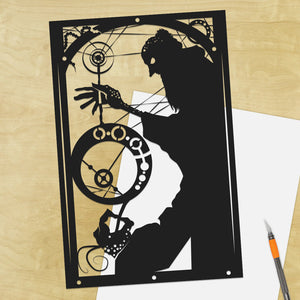 UNFRAMED Rumpelstiltskin Fairy Tale Original shadow cut paper craft fairy tale art nouveau unique wall decor storybook art