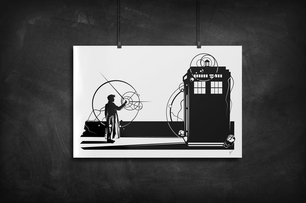 Snap - Doctor Who silhouette art print