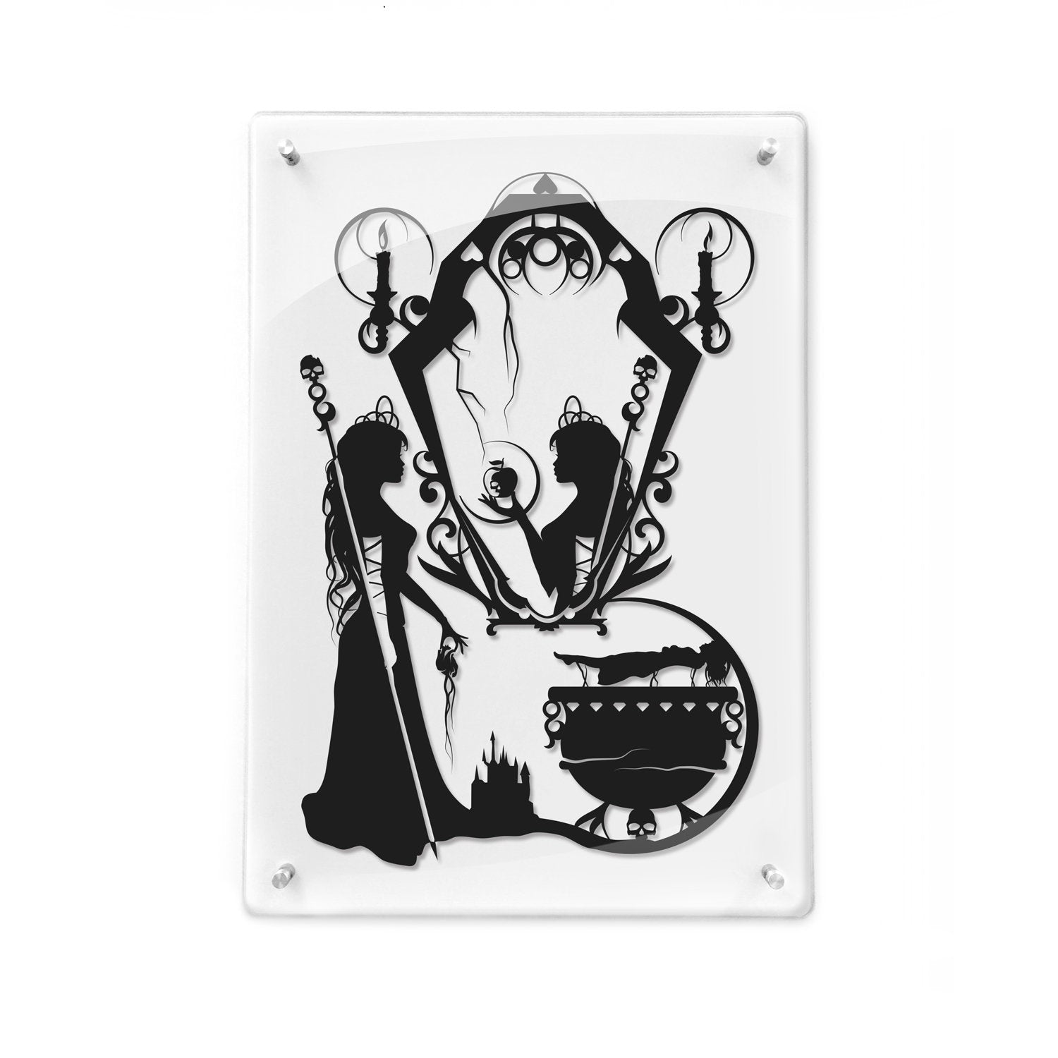 FRAMED The Evil Queen Snow White seven dwarfs Magic Mirror Poison apple Brothers Grimm Once upon a time Evil Step Mother Evil Queen gift