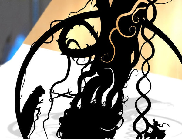 UNFRAMED Rapunzel Tower Fairy Tale princess Rapunzel Original shadow cut paper craft fairy tale surreal unique wall decor storybook art
