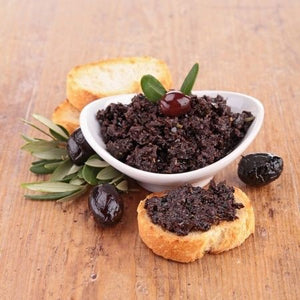 Provencal tapenade with black olives