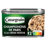 Cassegrain Paris mushrooms with fresh cream, Trumpets of the dead and Morels 380g