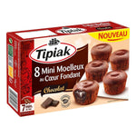 Tipiak Mini soft cake with a melting chocolate heart 8 pieces of 144g ea.