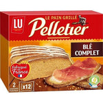 Pelletier Whole wheat toast made in France 2x12 slices 500g - Mon Panier Latin