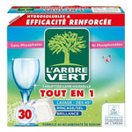 L'ARBRE VERT Ecological all-in-1 dishwasher tablets x30 doses - 547g