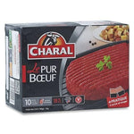 Charal Ground steaks 100% pure beef, 15% fat 1kg - Mon Panier Latin