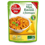 Organic cereal Mini organic ravioli with 2 cheeses without preservative in bag 250g
