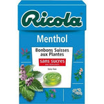 Ricola Swiss plant-based sweets without sugars menthol flavor 50g
