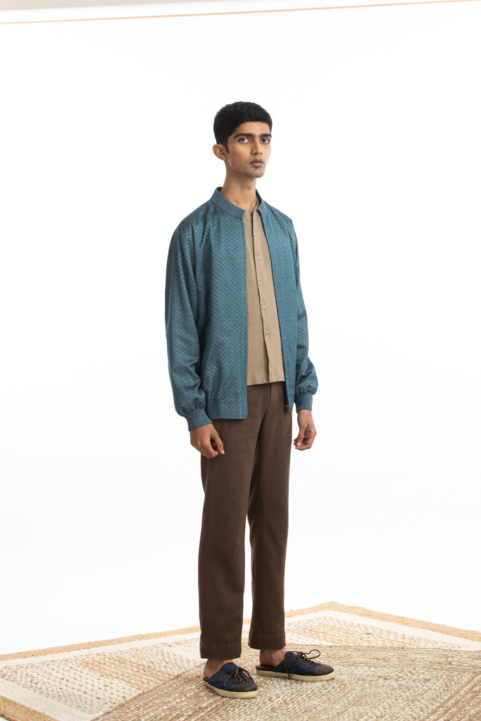 Handwoven Bomber Jacket Co-ord Basic Shirt Trouser