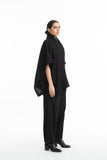 Handwoven Black Marino Wool Cape