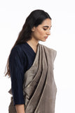 Handwoven Light Brown Circle Silk Saree