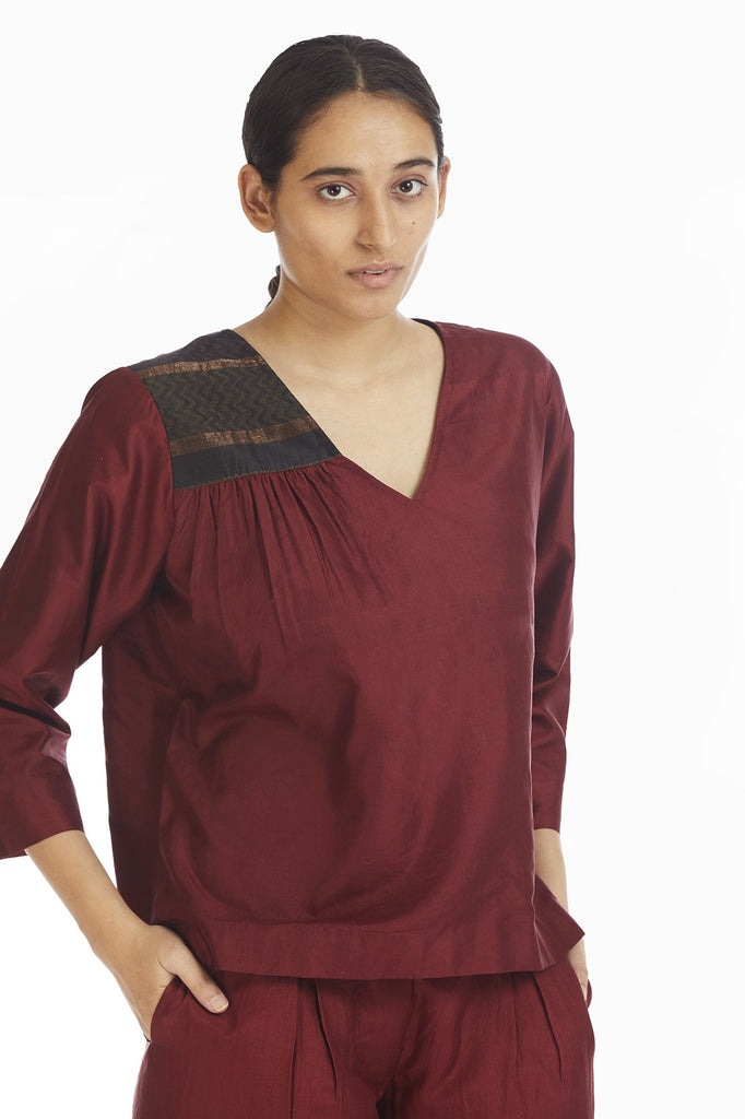 Handwoven Engineered Silk Top