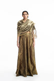 Handwoven Gold on Silver Textured Metallic Dupatta