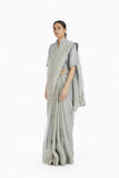 Handwoven African Striped Linen Saree
