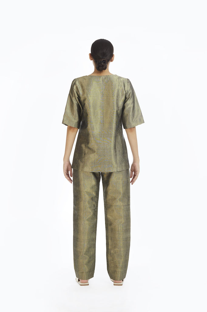 Handwoven Gold Crack Pants
