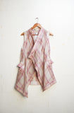 Handwoven Pink Checkered Cape