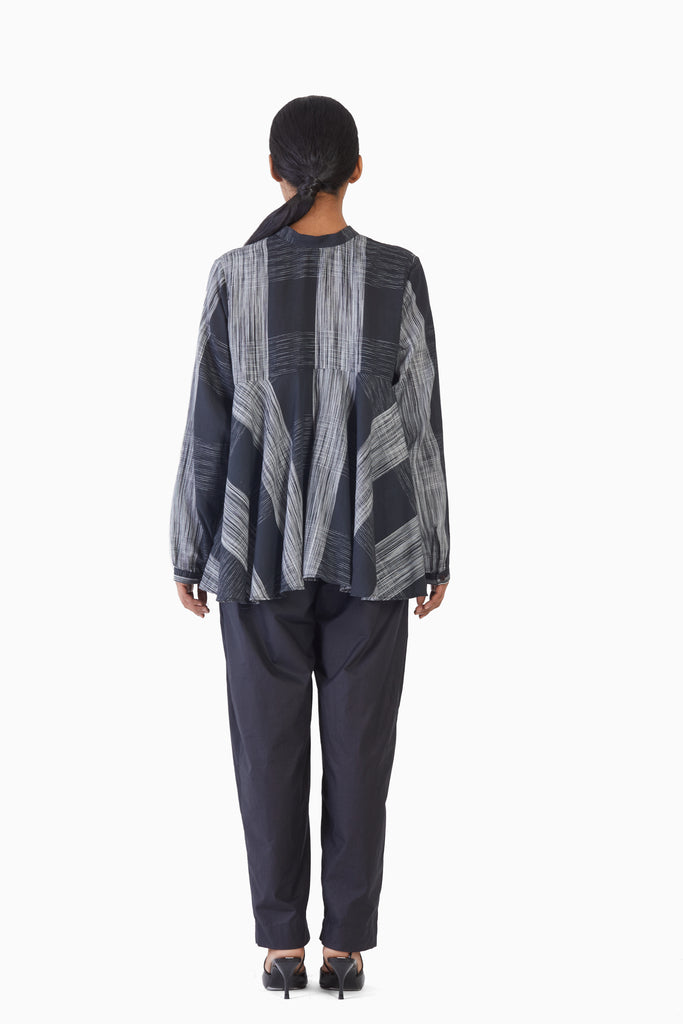 Handwoven Ikat Flare Top