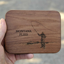 Load image into Gallery viewer, Personalized Wood Fly Box