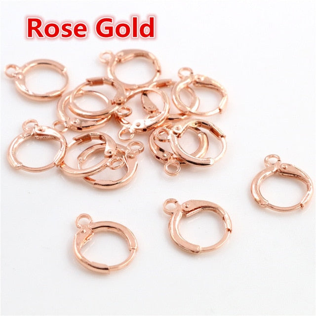 Lever Back Earrings Findings 14x12mm Wholesale (30pcs)