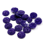 Round Flat Back Resin Cabochons 8mm, 10mm, 12mm, Ore Style, Wholesale (40pcs)