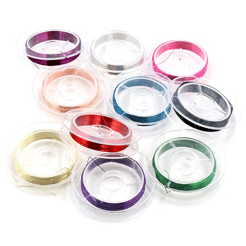 Wire, Mixed Colors, 0.3mm, 0.4mm, Wholesale (10 Rolls)
