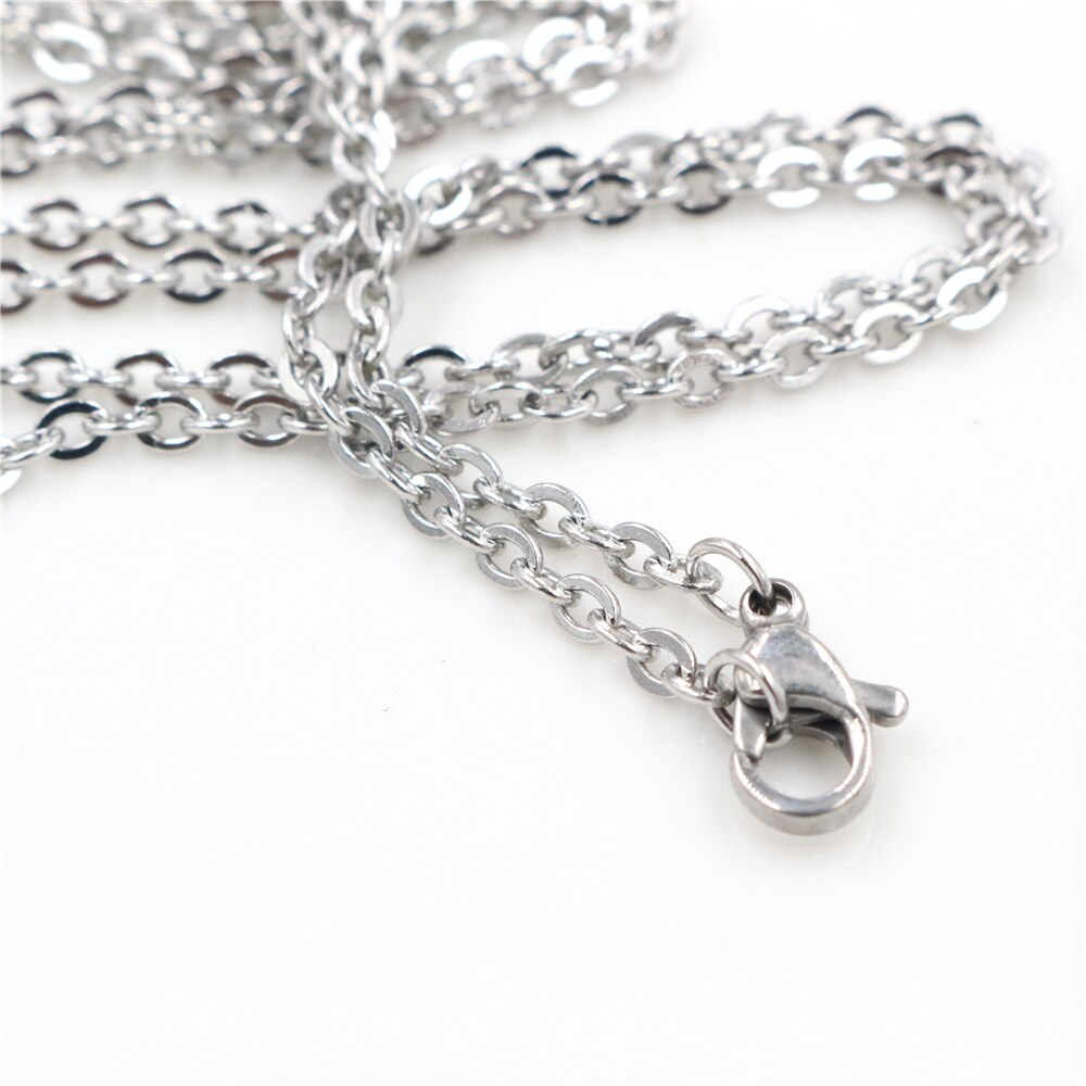 Stainless Steel Chain Necklace With Lobster Clasps 50cm/ 70cm Long Wholesale (5pcs)