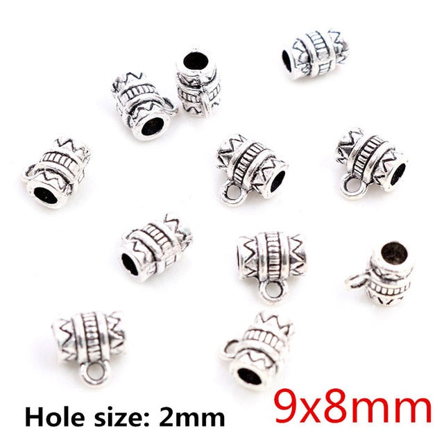 Beads Bails Connectors 9x8mm Wholesale (20pcs)