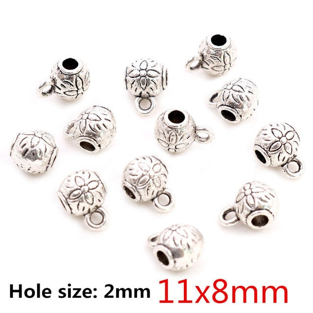 Beads Bails Connectors 11x8mm Wholesale (20pcs)