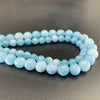 Aquamarine Natural Semi Precious Stone Round Beads Wholesale
