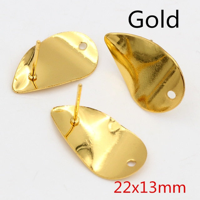 Stud Earrings Findings Wholesale (6pcs)