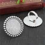 Round Adjustable Ring Settings Blank Base Cabochon Fit 25mm Wholesale (5pcs)