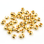 Round Covers Crimp End Beads Stopper Spacer Beads, 3mm, 4mm, 5mm, Wholesale (100pcs)