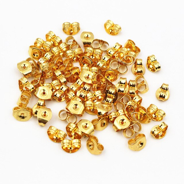 Stainless Steel Earrings Backs Plugs Ear Studs Stoppers Wholesale (100pcs)