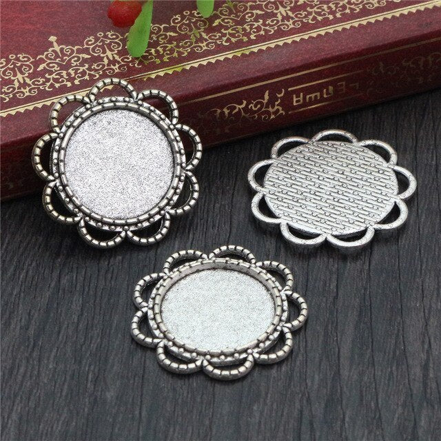 Pendant Round Cabochon Blank Base Setting Inner Size 18mm Wholesale (10pcs)