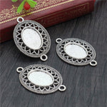 Pendant Oval Cabochon Blank Base Setting Vintage Style Inner Size 13x18mm Wholesale (10pcs)