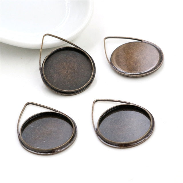 Pendant Round Cabochon Blank Base Setting Drop Style Inner Size 20mm Wholesale (10pcs)