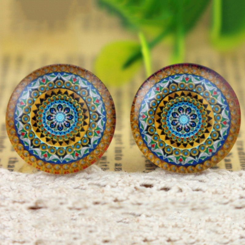 Round Flat Back Photo Glass Cabochons 20mm, High Quality, Wholesale (10pcs)