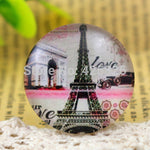 Round Flat Back Photo Glass Cabochons 25mm, High Quality, Wholesale (5pcs)