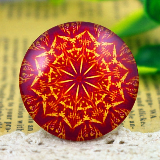 Round Flat Back Photo Glass Cabochons 30mm, High Quality, Wholesale (5pcs)