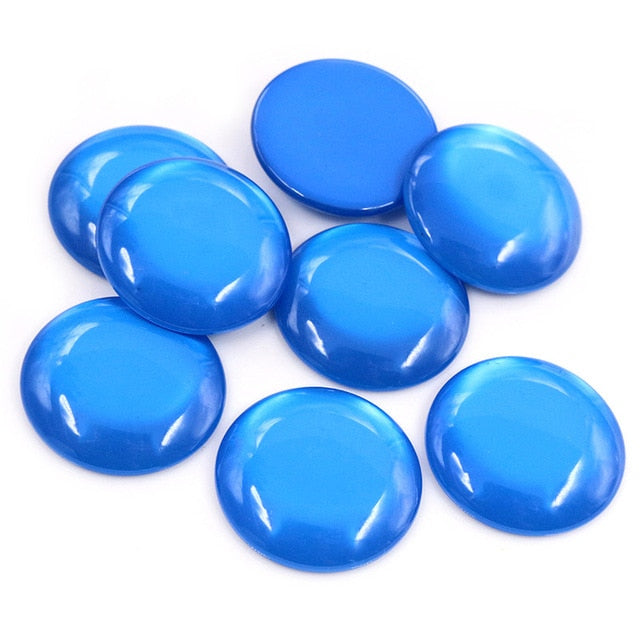 Round Flat Back Resin Cabochons 25mm, Wholesale (10pcs)