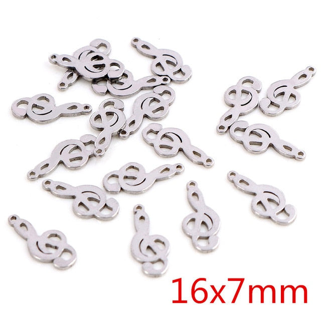 Stainless Steel Sol Key Charms, 16x7mm, Wholesale (30pcs)