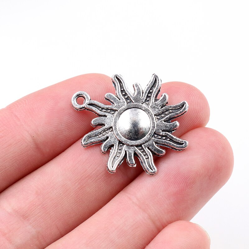 Sun Metal Charms, 28x24mm, Wholesale (10pcs)