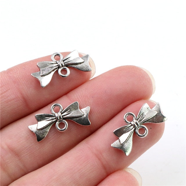 Bow Tie Metal Charms, 20x10mm, Wholesale (30pcs)