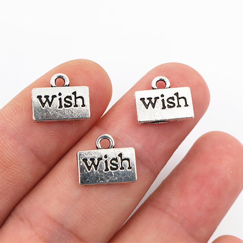 Wish Metal Charms, 12x11mm, Wholesale (20pcs)