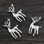 Deer Metal Charms, 28x13mm, Wholesale (30pcs)