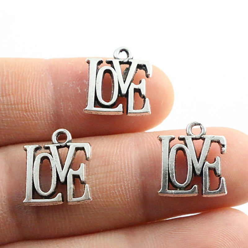 Love Metal Charms, 15x13mm, Wholesale (20pcs)